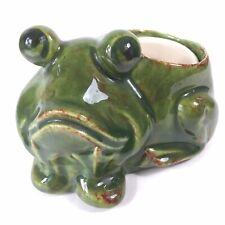 1:12 scale striped ceramic frog garden house dolls tumdee u ornament