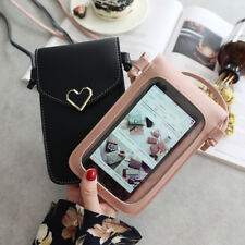 US Heart Cross-body Phone Shoulder Bag Pouch Case Belt Handbag Purse Wallet