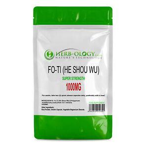 Fo ti He Shou Wu Extract Capsules 1000mg Fo-ti Root