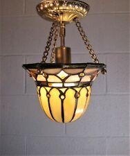 463b 857 Vintage Antique Glass Ceiling Light Lamp Fixture Porch Hall  pendant