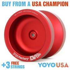 [FALL SALE] YoYoFactory DV888 Metal Yo-Yo Red + STRINGS