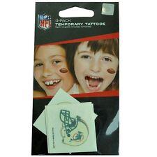NFL Miami Dolphins Pinne 4 Pack Tatuaggi Temporanei Bambini Loghi Accessori