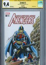 BLACK KNIGHT Sketch cover art by SCOTT HANNA CGC SS 9.4 Marvel Avengers Eternals