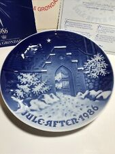 "Bing and Grondahl Christmas Plate - 1986 ""Silent Night Holy Night"""