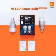 XIAOMI MI LED SMART BULB KIT 2 LAMPADINE RGB WIRELESS SENZA HUB E27 10W