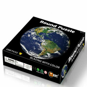 1000 PCS Jigsaw Puzzle Round Educational Puzzle Kids Adult Difficult Earth Pic A