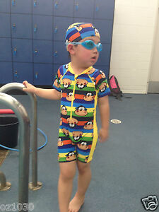 KIDS BABY BOYS TODDLERS SUIT SWIMWEAR SWIMMING COSTUME Size 3-6 SMK01