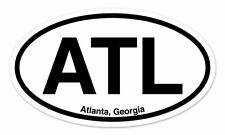 "ATL Atlanta Georgia Oval car window bumper sticker decal 5"" x 3"""