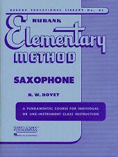 Rubank Elementary Method For Saxophone Beginner Book