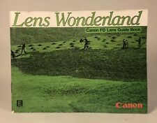 Good Vintage Canon Lens Wonderland Fd Lens List Guide Book (En) manual focus