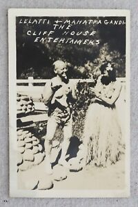 Vntg RPPC Postcard Lelatti Mahatma Gandi Cliff House Entertainers San Francisco