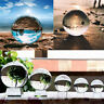 Clear Glass Crystal Ball Healing Sphere Photography Props Lensball Decor Gift AU