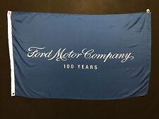 Ford 100 Year Dealer Banner Flag - Henry Ford Mustang GT Shelby Cobra RS GT40 v8