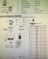 Kit Guarnizioni 'Bestway' Pompa Filtro Modello  58499 -7571 lt-h 7 pz
