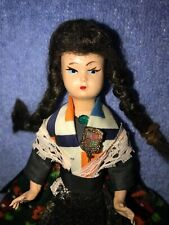 """Vintage display ethnic 6"""" doll with metal pin"""