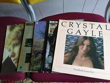 Lot 5 LPs - Moe Bandy, Crystal Gayle, Freddie Hart, Merle Haggard, Tanya Tucker
