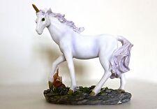 Unicorn Model Ornament Resin Purple Glitter Unicorns Toy Kids Children's Figure