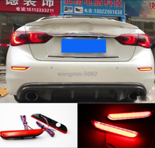 2*FOR 2014-2017 INFINITI Q50/Q70 Led Brake Light Rear Bumper Fog Lamp Decoration