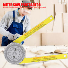 3D Plastic Angle Ruler Miter Saw Protractor Engraved Dial Scale Portable Tool