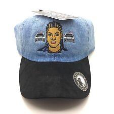 Denim Black Suede Set It Off Movie Latifah Dad Cap Hat Exclusive 90s