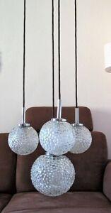 Kaskadenlampe 4-flammig Hänge-Lampe Decken-Leuchte Bubble-Glas 60er/70er