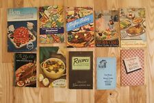 Lot of 10 VTG 1940s 50s Recipe Cook Books Booklets Advertising for Appliances
