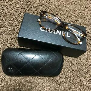 Auth CHANEL CC 3135 C502 Tortoise Glasses Eyeglasses Frames Brown Never Used F/S