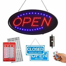 Rdutuok Led Open Sign with Remote and Timing Function 19x10inch Light Up Signs
