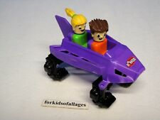 ONE Knex Rippin Rocket Purple ROLLER COASTER CAR w/People - 1 Spare Part / Piece