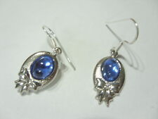 Modische Ohrringe Ohrhänger Earrings m.hellblauen Katzenauge Ohrhaken 925 Silber