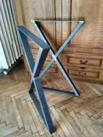 Black metal x table legs contemporary metal table legs designer metal table legs