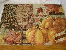 Set Of 4 Fall 13x19 Tapestry Placemats