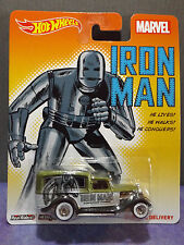 HOT WHEELS MARVEL COMICS IRON MAN '34 DODGE DELIVERY 2015 POP CULTURE. Mint.