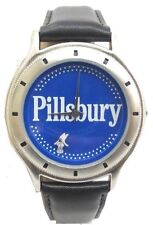 Collectible Pillsbury Watch by Sweda Japan Quartz Movt Stainless Steel Back 36mm