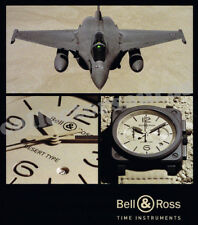 BELL & ROSS with Rafale Desert type mens watch advertisement A4 HQ print