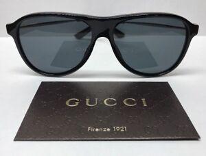Gucci GG 1058/S CVSBN Black Ruthenium Sunglasses Made in Italy Authentic COA
