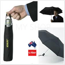 Korjo Unisex Black Automatic Open & Close Compact Light Windproof fold Umbrella