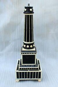 Indian Luxury Wooden Bone Inlay Black Color Light Lamp
