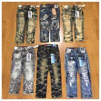 Brand New Boys Toddler Size 2T 3T 4T 5 7 Fashion Denim Moto Rip Kids Jean Pants