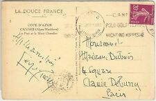 54484 - FRANCE - POSTAL HISTORY:  SPORTS postmark on POSTCARD: TENNIS  1932