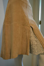 ARDEN B Suede Skirt Leather A Line Boho size 4