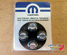 Black Dodge Dart Valve Stem Caps With Silver & Black Logo Mopar OEM