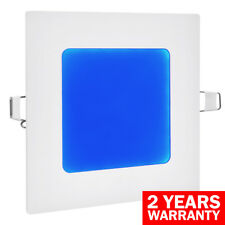 6W LED BLUE Square Recessed Ceiling Flat Panel Down Light Ultra Slim Blue