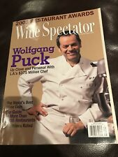 WINE SPECTATOR MAGAZINE- CHEF WOLFGANG PUCK- 2003- GREAT FOR AUTOGRAPHS- COOK