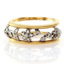 Hidalgo Diamond Flower Ring Jacket in 18K White & Yellow Gold | FJ