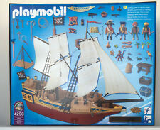 Playmobil Vintage Retired 4290 PIrate Ship - New Sealed mint in box