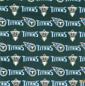 """Bandanna for Tennessee Titans on Blue 100% Cotton #497 Handmade 22"""" X 22"""""""