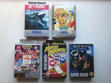 Sega. Sega Game Gear. Gamegear. Lot de 5 boites vide . Version Pal - Usa