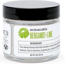 Schmidt's Deodorant Jar, Bergamot + Lime 2 oz