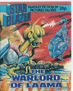 THE WARLORD OF LAAMA,STARBLAZER FANTASY FICTION ADVENTURE IN PICTURES,NO.185